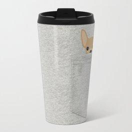 Pocket Chihuahua - Tan Travel Mug