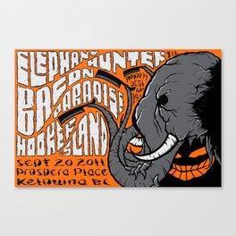 Elephant concert poster Canvas Print