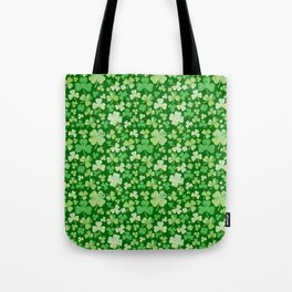 Lucky Green Watercolour Shamrock Pattern Tote Bag