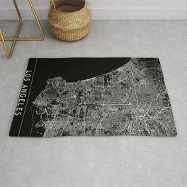Los Angeles Black Map Rug
