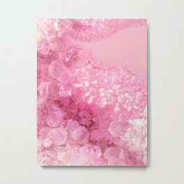 Sweet Pink Crystals Metal Print