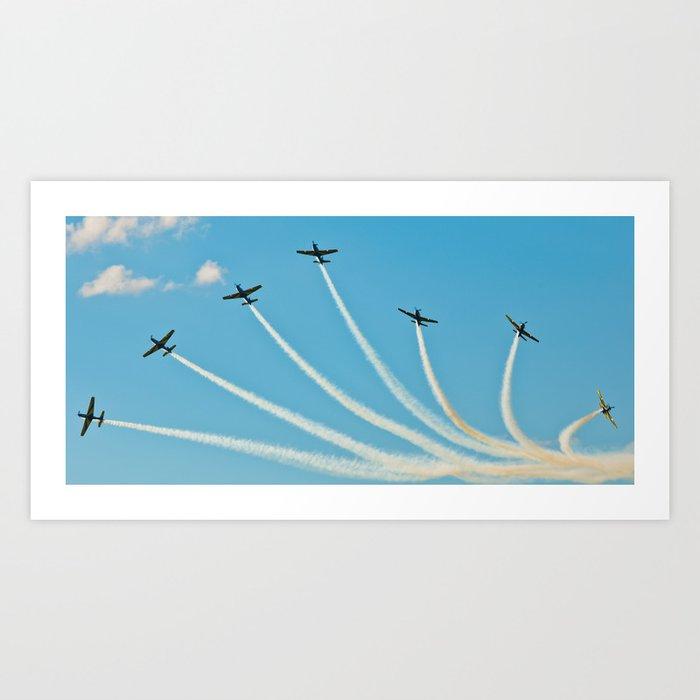 Smoke Squadron Art Print