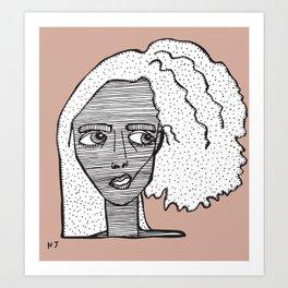 Biracial hair Art Print