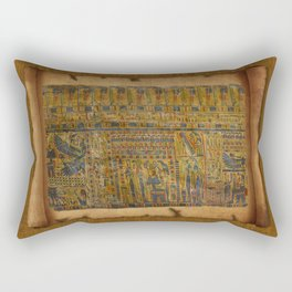 Ancient Egyptian Funerary Scroll pre 944 BC Rectangular Pillow