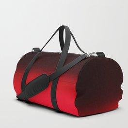 Red Ombré Block Design Duffle Bag