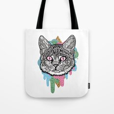 DRIPPY CAT Tote Bag