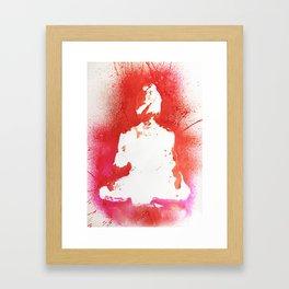 Buddha in White Framed Art Print