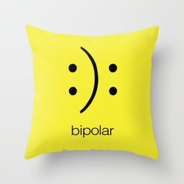 Bi polar Throw Pillow