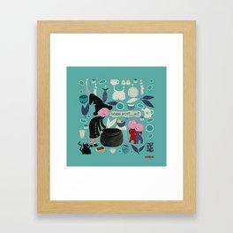 Worst choice of babysitter ever - Kitchen funnies Framed Art Print