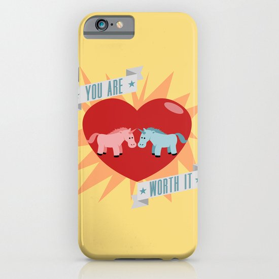 Unicorns are Worth It iPhone & iPod Case