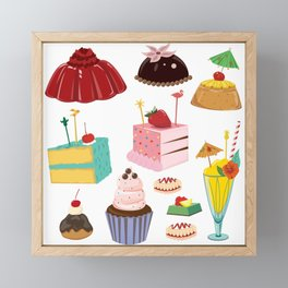Kitschy Desserts Framed Mini Art Print