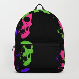 Skull 3x3 - Lime/Purple/Pink Backpack