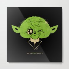 StarWars May the Force be with you (green vers.) Metal Print