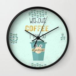 DEPRESSO Wall Clock