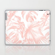 Pink Tropical Palm Leaves Laptop & iPad Skin