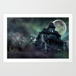 The Haunted House Art Print