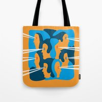 faces Tote Bags featuring Faces by Jonathan Severin