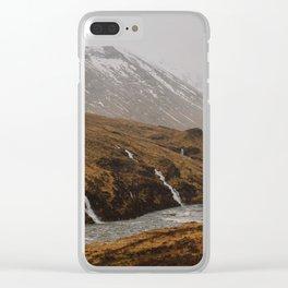 Water falls in Glen Etive Clear iPhone Case