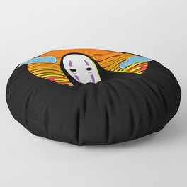 No Face a Lonely Spirit Floor Pillow