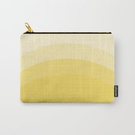 Four Shades of Yellow Curved Carry-All Pouch