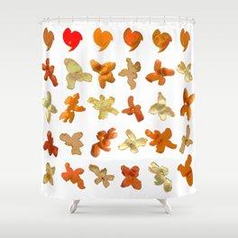 Orange Peel Party Shower Curtain