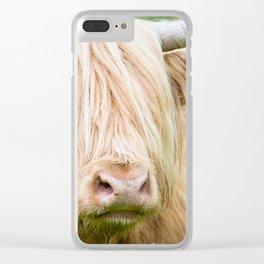 Scruffy Cow Clear iPhone Case