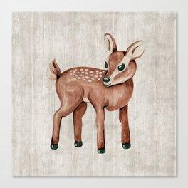 Little Fawn, Baby Deer, Forest Animals, Woodland Nursery, Baby Animals Canvas Print