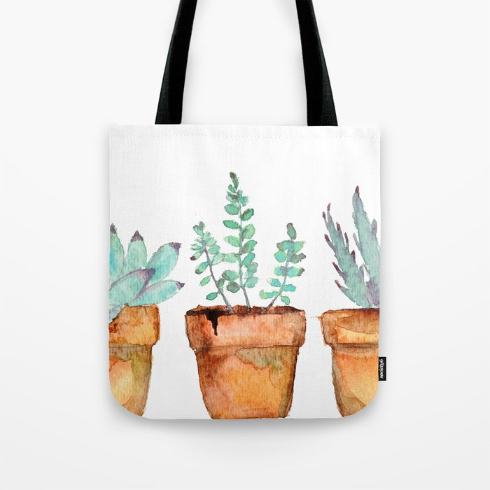 watercolor succulent  Tote Bag