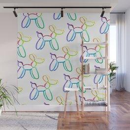 Rainbow Watercolor Balloon Dogs! Wall Mural