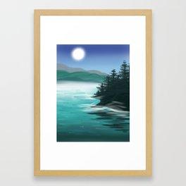 Misty Mountain Lake Framed Art Print