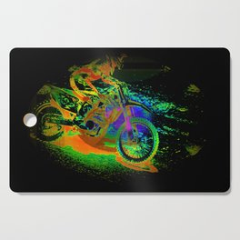 Race to the Finish! - Motocross Racer Cutting Board