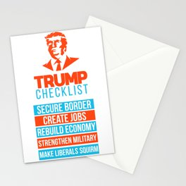 Trump Republican MAGA checklist First Gift Stationery Cards