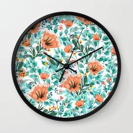 Tangerine Dreams #society6 #decor #buyart Wall Clock