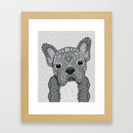 Gray Frenchie 001 Framed Art Print