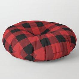 Red & Black Buffalo Plaid Floor Pillow