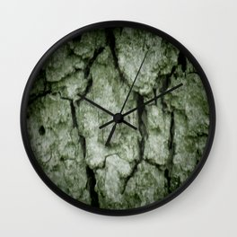 Darkened Tree Bark Wall Clock