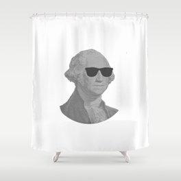 George Washington Cool Sunglasses Shower Curtain