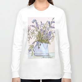 Wildflowers Botanical Flowers in Pitcher Long Sleeve T-shirt