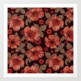 Rafflesia Endangered Flower Art Print