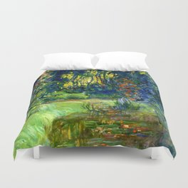 "Claude Monet ""Water lily pond at Giverny"", 1919 Duvet Cover"