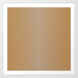Art Deco, Simple Shapes Pattern 1 [LIGHT GOLD] Art Print