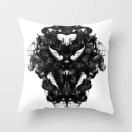 """Now, tell me what you see."" Throw Pillow"