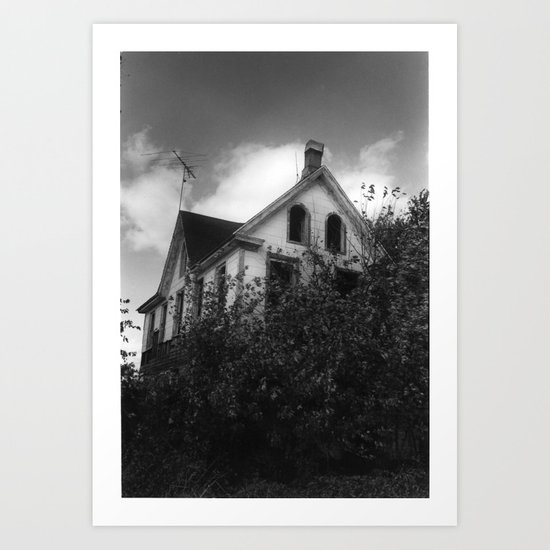 House but Not a Home Art Print