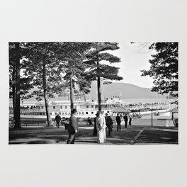 Vintage Lake George: The Sagamore Docks at Green Island Rug