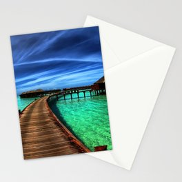 Stilt Bungalows In Mauritius Holiday Resort Ultra HD Stationery Cards