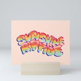 Sunshine Riptide in 3D Mini Art Print