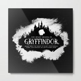 Gryffindor B&W Metal Print