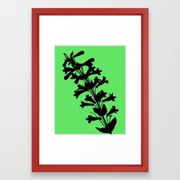 Penstemon in Plum Purple - Original Floral Botanical Papercut Design Framed Art Print