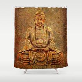 Sand Stone Sitting Buddha Shower Curtain