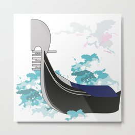 The symbol of the city of Venice-gondola Metal Print